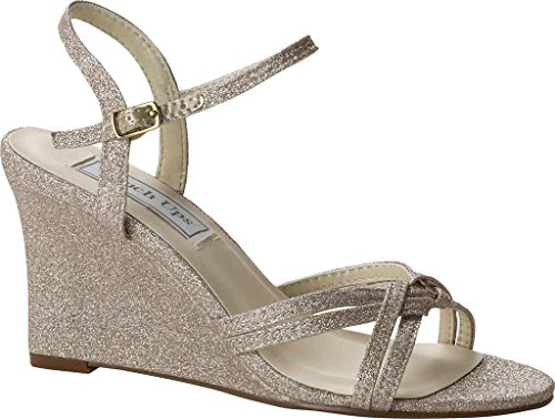 Touch Ups Women's Buffy Wedge Sandal Champagne Glitter official sale online Dcmy4CeNd