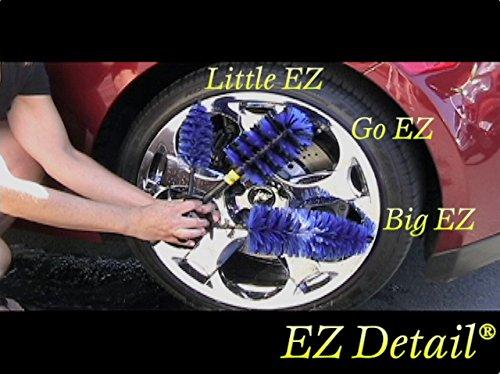 EZ Detail Brushes EZBL EZ Brosse de Nettoyage pour Roue en Alliage de Voiture et Moto
