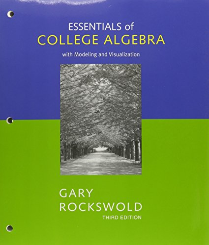 Essentials of College Algebra, a la Carte Plus (3rd Edition)
