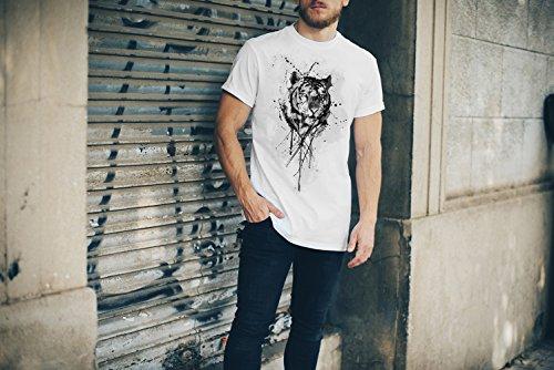Tiger-(2) T-Shirt Herren, Men mit stylischen Motiv von Paul Sinus