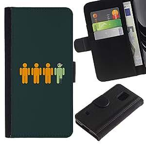 LECELL--Cuero de la tarjeta la carpeta del tirón Smartphone Slots Protección Holder For Samsung Galaxy S5 V SM-G900 -- Divertido pirata --