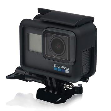 micros2u GoPro Hero 5 carcasa lado abierto frontera marco montaje. Full puerto acceso + fácil tornillo de mariposa + liberación rápida para pantalla ...
