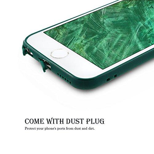 Funda iPhone 6 Plus / 6S Plus, SpiritSun Soft Carcasa Funda para iPhone 6 Plus / 6S Plus (5.5 pulgadas) Ultra Delgado y Ligero Flexible TPU Caja Suave Silicona Piel Carcasa Anti Rasguños Anti Golpes P Verde oscuro