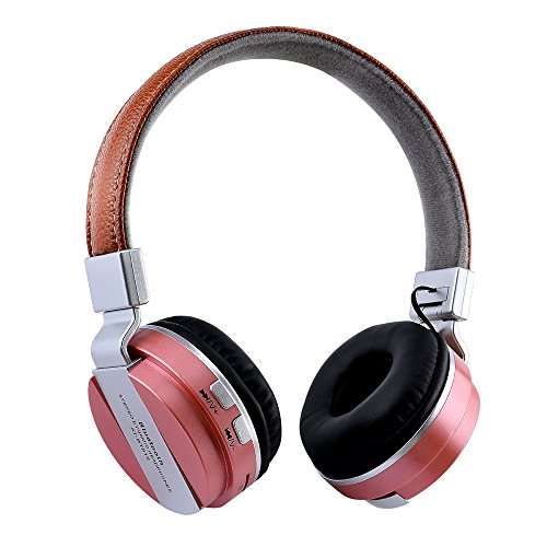 Over-Ear Headphone Bluetooth 4.1 - OXOQO Stereo Dynamic Wireless Headset for iphone - Notebook - ipad - Desktop PC - PSP - MP3 (Rose gold)