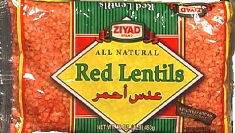 Ziyad All Natural Red Lentil Dry Beans, 16 Ounce - 6 per case.