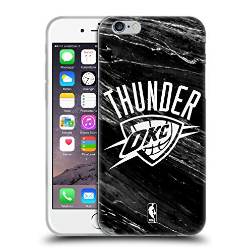 Official NBA B&W Marble Oklahoma City Thunder Soft Gel Case for Apple iPhone 6 / - 6 Oklahoma