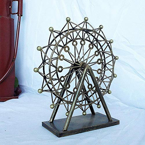 Tieyi Ferris Wheel can be Carefully Crafted Ferris Wheel Multi-Color Optional, Bronze, Trumpet 23927CM