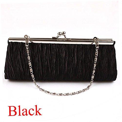 Cloudga Women Party Club Clutch Purse Pleated Handbag Evening ()