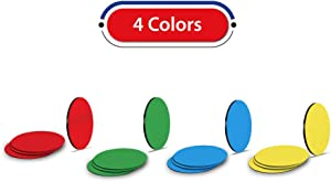 Flexible Round Magnets in Assorted Colors a for Whiteboard, Refrigerator, Locker or Office - 16 Pack, 1 Inch Diameter