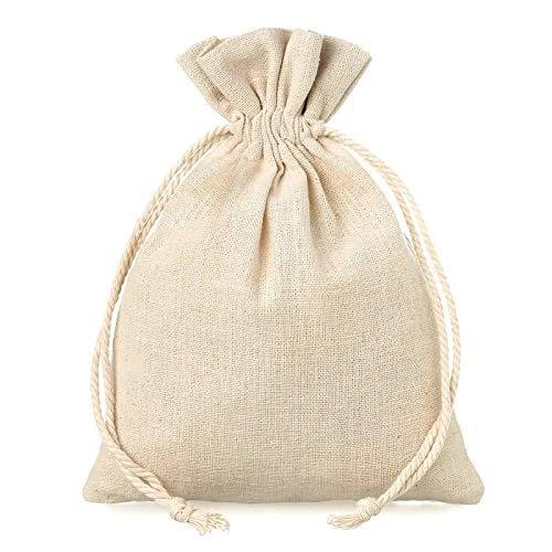 Bolsa de lino de 14,3 x 19 cm para guardar detalles de ...