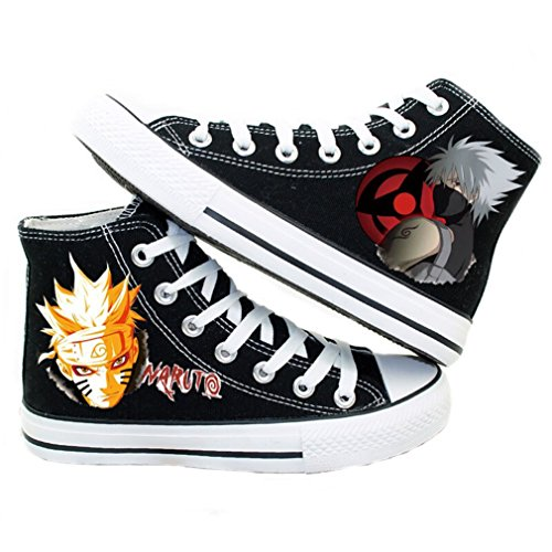 Bromeo Naruto Unisex Segeltuch Hallo-Spitze Sneaker Trainer Schuhe