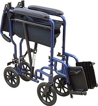 Roscoe Medical Kta1916sa-bl Aluminum Transport Wheelchair, Blue 2
