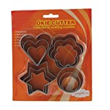 Vktech Stainless Steel Cookie Biscuit Mould with Heart Flower Star Round Shape