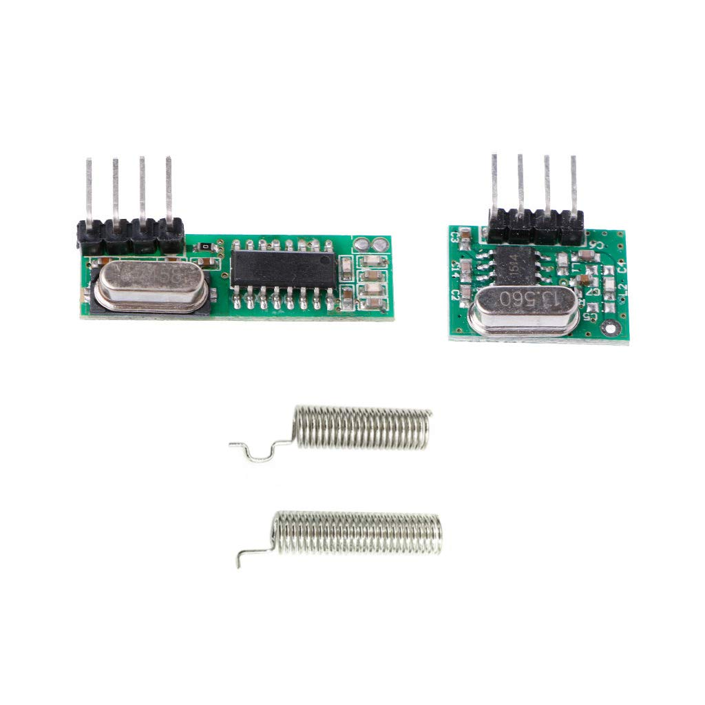 ZOUCY 1 Set 433 MHz Superheterodyne HF-Empfänger Sender Modul Kit mit 2 Antennen