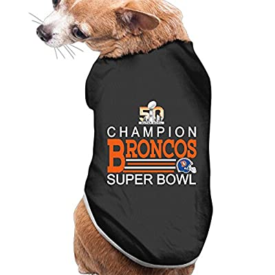 CYANY Super Bowl 50th Champion Denver 2016 Broncos Soft Doggie Tank Top Black