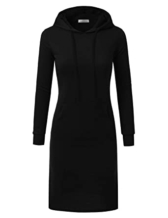 a0df51cc065 Doublju Hoodie Midi Dress for Women with Plus Size at Amazon Women s ...