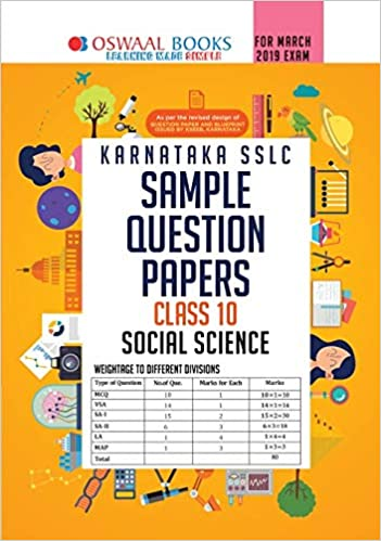 Oswaal Karnataka SSLC Sample Question Papers for Class 10