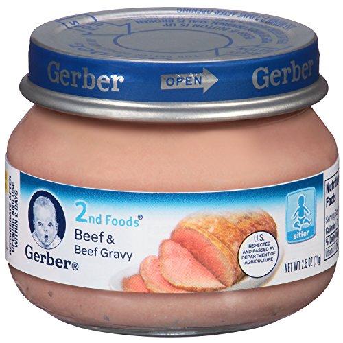 Gerber 2nd Foods Beef and Beef Gravy , 2.5 oz by Gerber