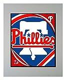 Encore Select 900-33 MLB Philadelphia Phillies Logo Matted Sports Memorabilia, 11-Inch by 14-Inch