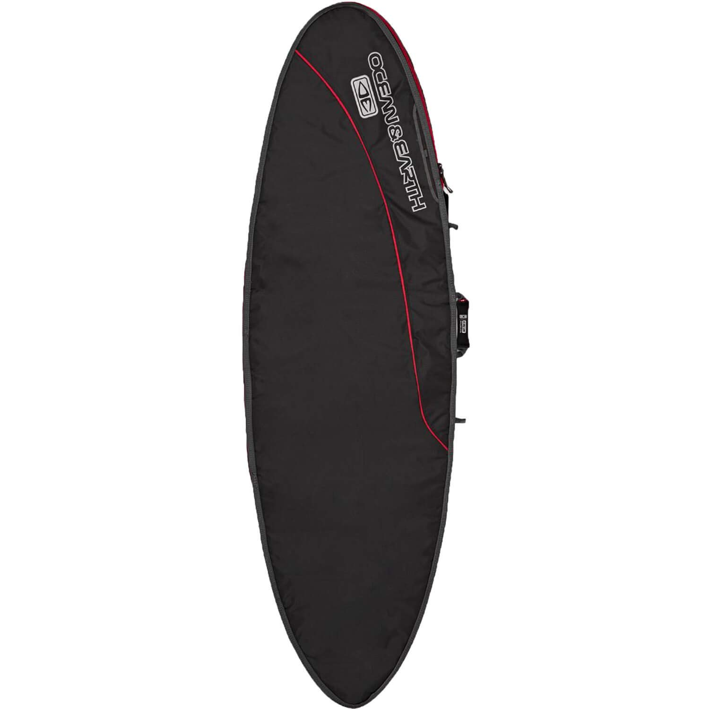 Ocean and Earth Airconブラック/レッドFish Surfboard Bag – 7 ' 8
