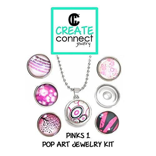 amazon com diy girl s jewelry making kit with snap charm necklace