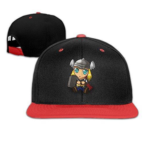 man-american-superhero-chibi-cartoon-thor-contrast-color-hip-hop-baseball-caps-snapbacks