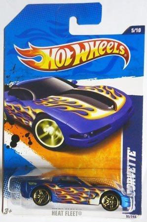 2011 Hot Wheels '97 CORVETTE heat fleet 5 of 10,  95 Blau with flames by Hot Wheels