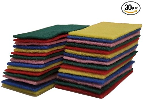 Scrub Buddies Light Duty Scouring Pads 30 count (3 pack) Non-Scratch reuseable