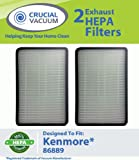 2 PK Kenmore 86889 EF-1 Exhaust HEPA Vacuum Filter; Compare to Sears Kenmore Part# 86889 (or 20-86889), 40324, EF1 and Panasonic Part # MC-V194H (MCV194H); Designed and Engineered by Crucial Vacuum, Appliances for Home