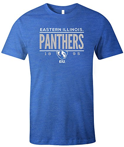 NCAA Eastern Illinois Panthers Tradition Short Sleeve Tri-Blend T-Shirt, Royal,X-Large