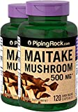 Product review for Piping Rock Maitake Mushroom Extract 500 mg 2 Bottles x 120 Capsules Herbal Supplement
