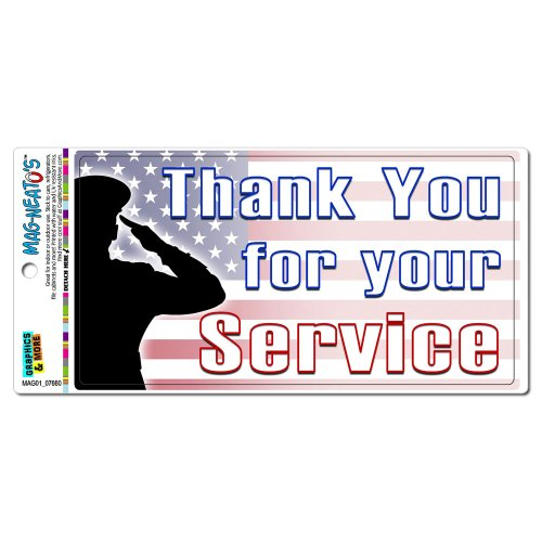 Thank You for Your Service - USA Military Troops United States Marine Corps Navy Air Force Army MAG-NEATO'S(TM) Automotive Car Refrigerator Locker Vinyl Magnet
