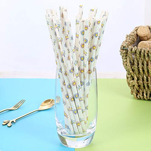 (OrchidAmor 25pcs Disposable Drinking Straws Home Bar Party Cocktail Drink Straw 2019 New Fashion)