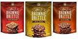 Sheila G's Brownie Brittle 3 Flavor Variety Bundle: (1) Sheila G's Salted Caramel, (1) Sheila G's Peanut Butter Chip, and (1) Sheila G's Toffee Crunch, 5 Oz. Ea. (3 Bags Total)
