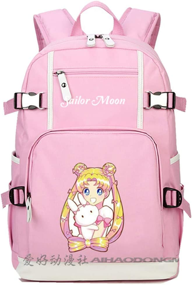 2019 Anime Sailor Moon Tsukino Usagi - Mochila para Mujer, Color Rosa: Amazon.es: Equipaje