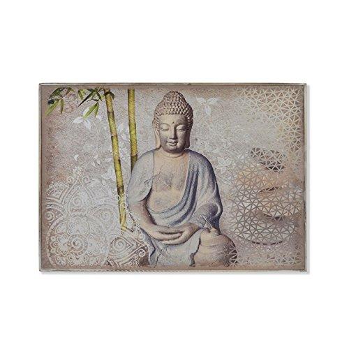 motivo orientale con Buddha D,casa grigio sportellino per contatore