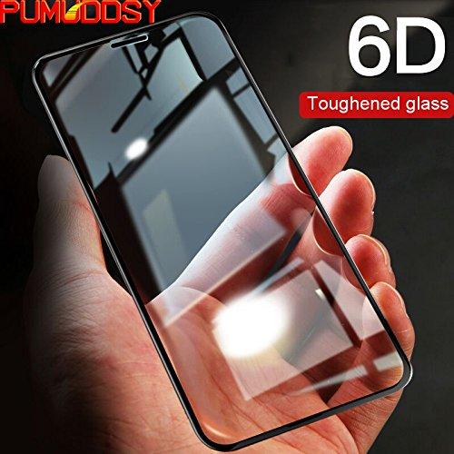 size 40 4ba74 88ba3 Amazon.com: 6D Tempered Glass - Screen Protector For iPhone X 10 ...