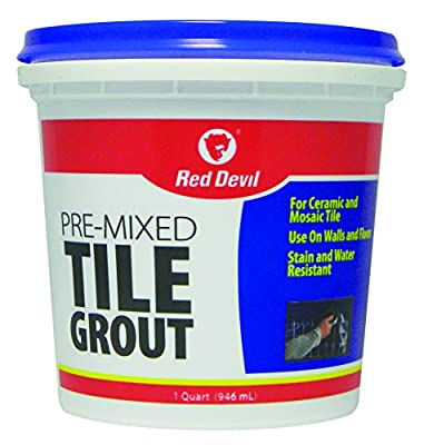 Red Devil 0424 1-Quart Pre-Mixed White Tile Grout