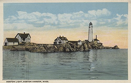 Boston Harbor Lighthouse - Boston, MA - Boston Lighthouse at Boston Harbor #1 (12x18 Fine Art Print, Home Wall Decor Artwork Poster)