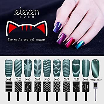 Amazon.com: 10PCS/SET Nail Art Magnet Stick Cat Eyes Magnet for Nail ...