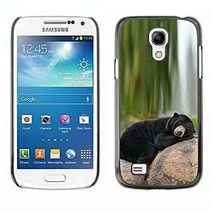 Design for Girls Plastic Cover Case FOR Samsung Galaxy S4 Mini i9190 Bear Sleepy Alaska Black Nature Green OBBA