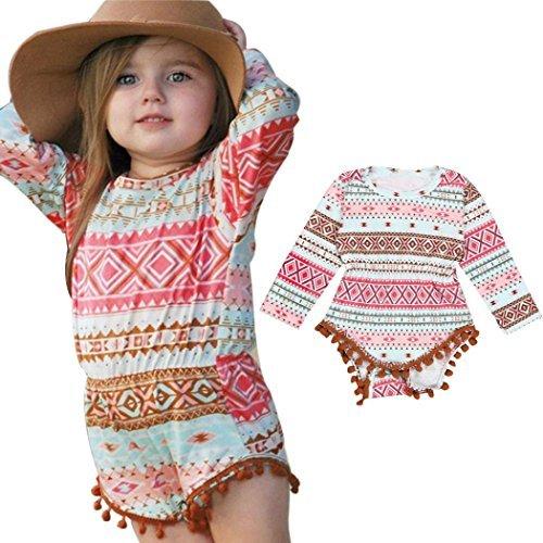 Matoen Infant Baby Girl Aztec Romper Jumpsuit Bodysuit Outfit (0-6 months) (Aztec Pattern Shirt)