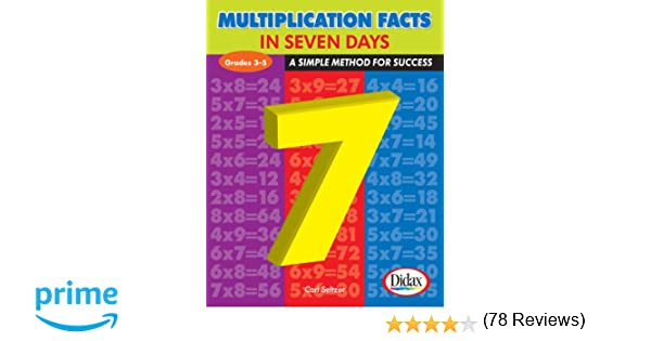 Workbook 6 and 7 times tables worksheets : Multiplication Facts in Seven Days: A Simple Method for Success ...