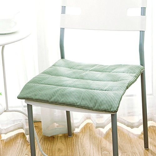 MUXI Chair Pads Chair pad/green small cushion/thin dining chair cushion/student pads-A 40x40cm(16x16inch) by MUXI Chair Pads