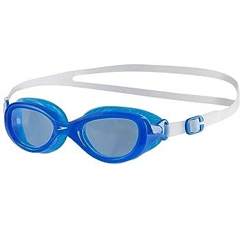 4f0c7d2e5d819 Speedo Kinder Futura Classic Schwimmbrille, Clear/Neon Blue, One Size