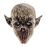 Blaward Novelty Latex Horror Masks/ Halloween Costumn Party/ Scary Head Mask Face Adult/ Old Man Mask Hair Halloween Party
