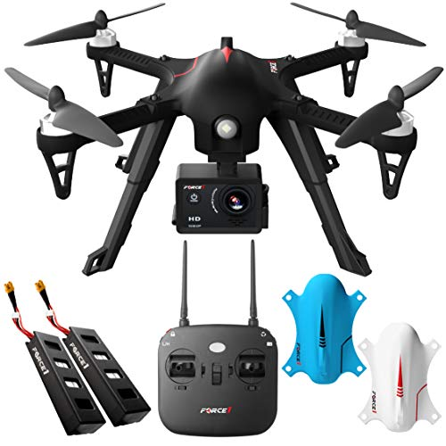 Force1 Brushless Motor GoPro Drone Kit - F100GP Camera Drones for Adults w/ Compatible GoPro Drone Mount, 1080p Drone Camera and Long Flight Time