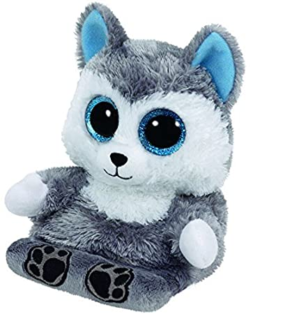 "6/"" TY Peek-A-Boos Phone Holder With Tag Soft Scout Husky Dog Plush Stuffed Toys"