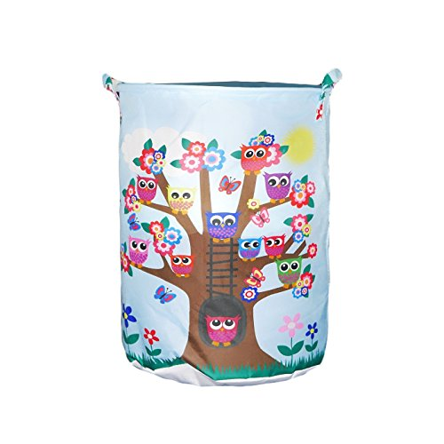 Children's Laundry Toy Hamper, Storage Basket, Waterproof, Durable, Fabric, Collapsible (Tree)