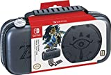Nintendo Switch Zelda Sheikah Eye Carrying Case – Protective Deluxe Travel Case – Koskin Leather with Embossed Zelda Breath of The Wild Art – Official Nintendo Licensed Product